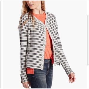 Lucky brand striped active jacket